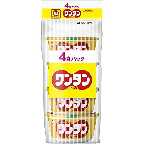 マルちゃん ワンタン しょうゆ味 4食入 カップ 32g×6個