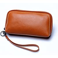 LDUNDUN-BAG, 2019 Leather Long Wallet Women's Wallet with A Cowhide Leather Cosmetic Bag (Color : Brown, Size : S)