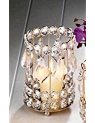 SWM 10018137 5.25 in. Super Bling Crystal Drops Candle Holder