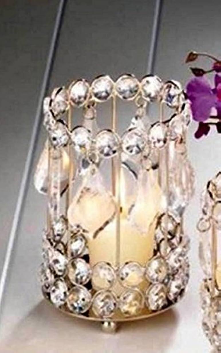 質素ながんばり続ける絞るSWM 10018137 5.25 in. Super Bling Crystal Drops Candle Holder
