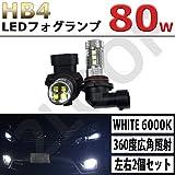 ハイラックス サーフ 210系 215系 H17.7~ LEDフォグランプ HB4 80W
