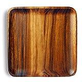 Best Dinnersets - 10-inchホームキッチンディナープレートAcacia木製正方形プレートServing Trayディナー料理食器類Platter Dinnersetプレート Review