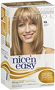 Clairol Nice'n Easy Permanant Hair Colour, 9a Light Ash Blonde, 1 c