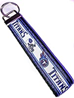 "Tennessee Titans NFL–BBキーチェーンポリエステル生地Wristlets forキーFob、キー、IDバッジホルダー、USB、財布( Aprox 4"" x1"" 5–6""長ハードウェア)"