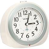 セイコー クロック 目覚まし時計 自動点灯 電波 アナログ 夜でも見える 白 パール KR331W SEIKO