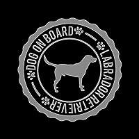 DOG ON BOARD ラブラドールレトリバー カッティング ステッカー シルバー 銀