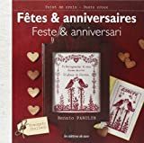 SAXE 「Fetes & anniversaires」 クロスステッチ図案・作品集-フランス語/イタリア語