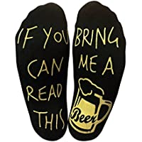 """""""If You Can Read This Bring Me A Beer"""" Funny Ankle Socks"""