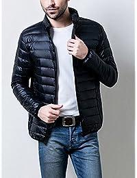 Hongli ダウン ジャケット メンズ 防寒 軽量 ダウン メンズ ダウンコート フード付き 秋冬 M-3XL