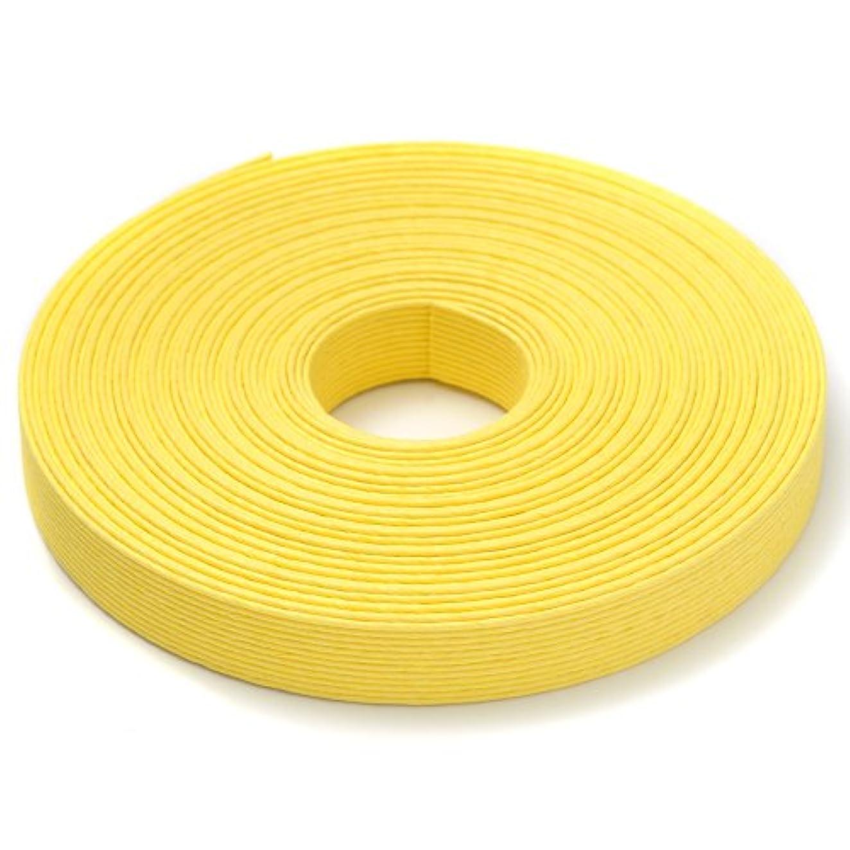 高潔な隠バング手芸用エコクラフトテープ たんぽぽ 50m巻 幅15mm 12芯
