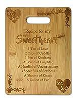 レシピfor My Sweetheart Cute Funnyレーザー刻印竹カッティングボード–結婚、新築祝い、記念日、誕生日、母の日、バレンタインの日ギフト