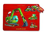 Construction Themed Wooden Puzzle by Crocodile Creek