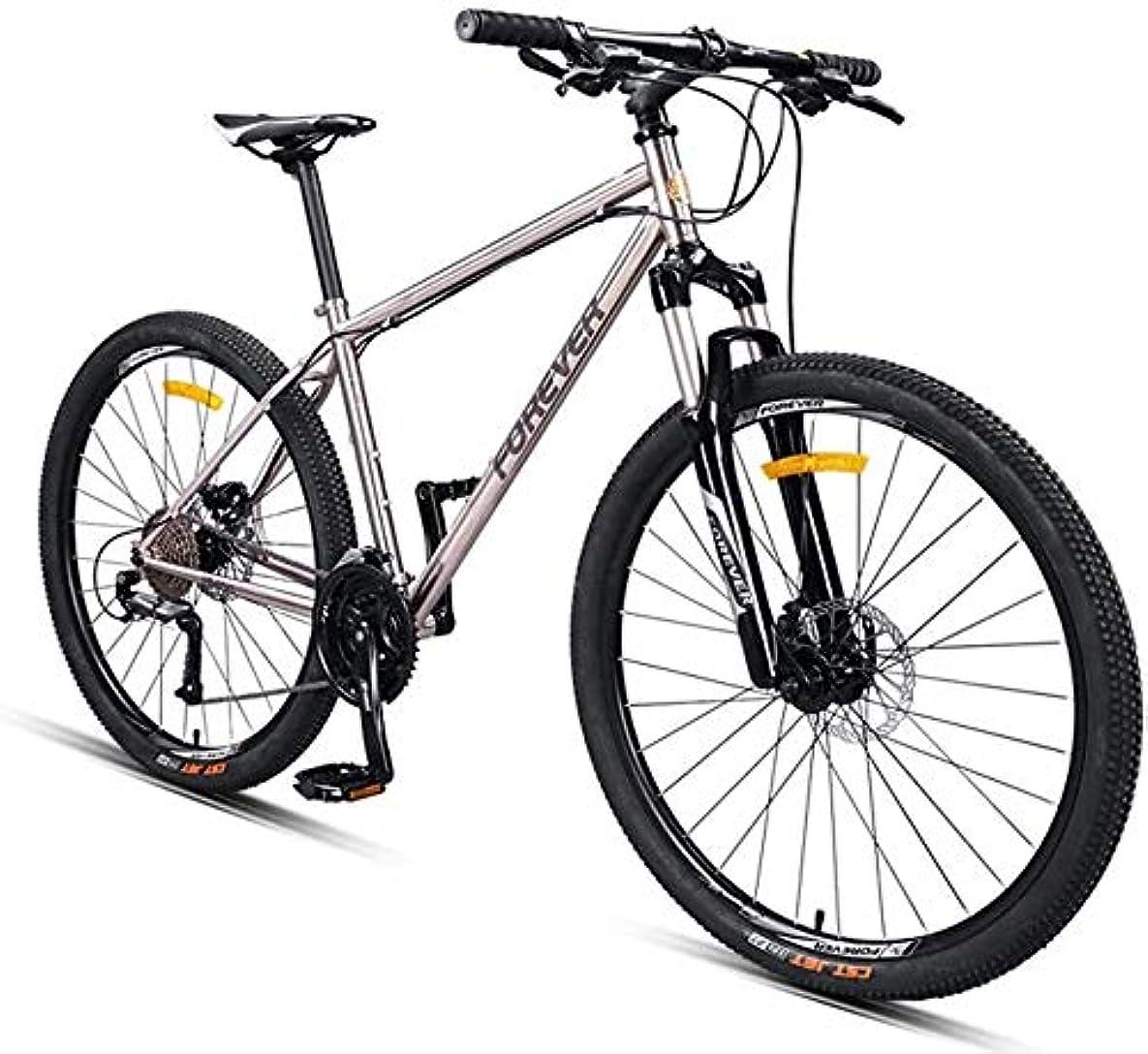 ケージハイブリッド時間大人のマウンテンバイク、27.5インチスチールフレームハードテイルマウンテンバイク、メカニカルディスクブレーキ滑り止めバイク、男性レディース全地形マウンテン自転車、30スピード