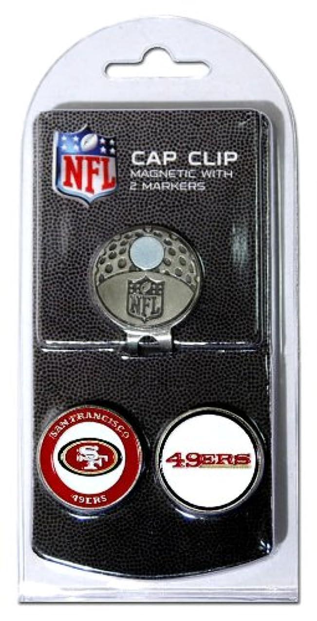 バイアスミニチュア経験的Team Golf 32747 San Fransisco 49ERS Golf Ball Marker Hat Clip