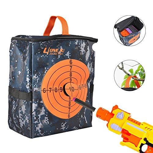 [해외]나후 N- 스트라이크 엘리트 용 다트 화살 수납 가방 수납 가방 장난감 총알 20 장 마이크로 다트 대상 포켓 표적 도안 사격 연습 대용량 아이 할로윈 크리스마스 선물/NARF N-STRIKE Elite Darts Arrow Storage Bag Storage Bag Toy Bullet 20 Micro...