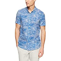 French Connection Men's Palm Leaf Short Sleeve Classic FIT Shirt