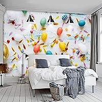 Wuyyii 現代の色とりどりの風船壁紙のための壁紙3Dの壁紙の背景絵画壁画の壁紙家の改善飾る-280X200Cm