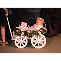 Mini Wedding Wagons Small Flower Girl Pumpkin Gloss Wagon, White