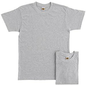 (グンゼ)GUNZE インナーシャツ G.T.HAWKINS 綿100% Tシャツ 2枚組 HK10132 NG グレーモク L