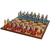 Camelot Busts Acrylic Padauk Chess Set [並行輸入品]