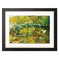 クロード・モネ Claude Monet 「The Japanese Bridge (Le Pont Japonais). Circa 1918-1924」 額装アート作品