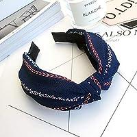 AKDSteel Women Girls Headband Top Knot Turban Headband Cross Bandage Scarf Hair Accessories 7#