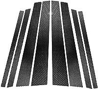 カーボンファイバードアウィンドウB+Cピラーポストパネルフレームデカールカバートリム BMW X5 X6 E70 E71 2008-2013 E7001用