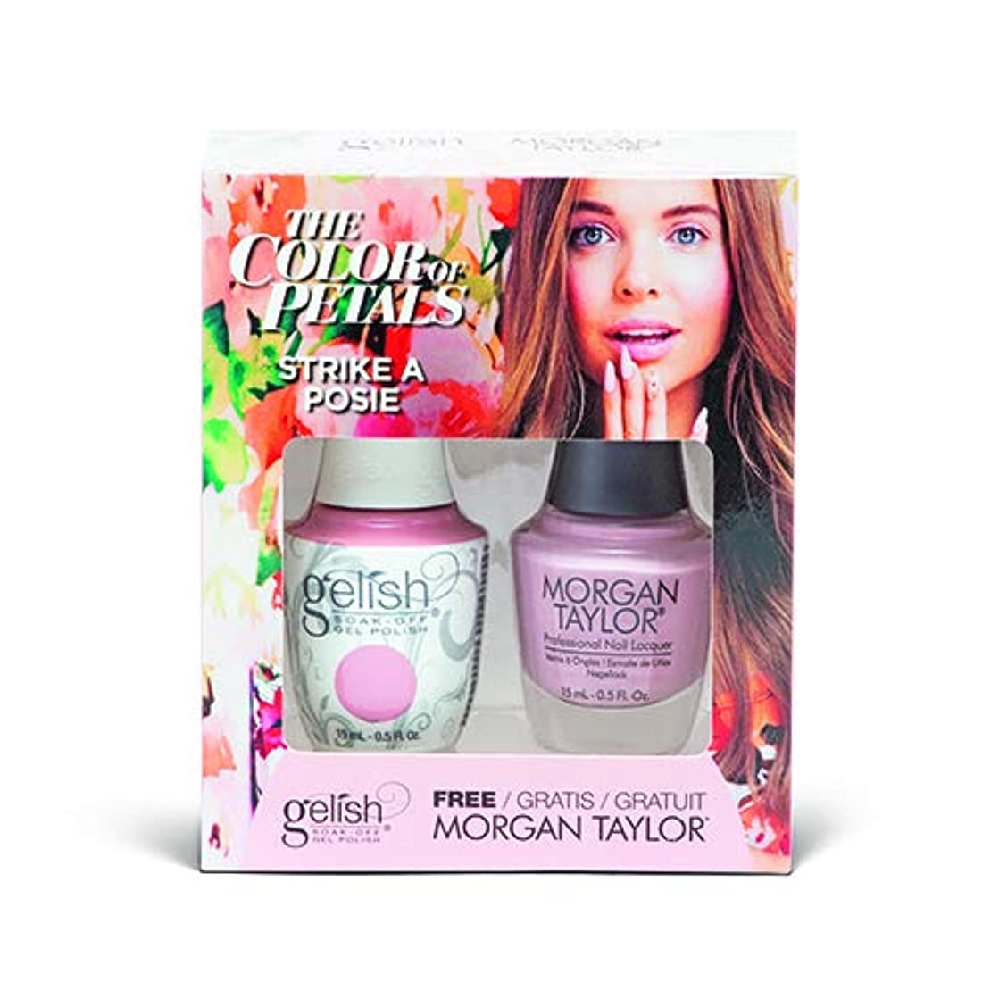 特性半島完璧なHarmony Gelish - Two Of A Kind - The Color Of Petals - Strike A Posie - 15 mL / 0.5 Oz