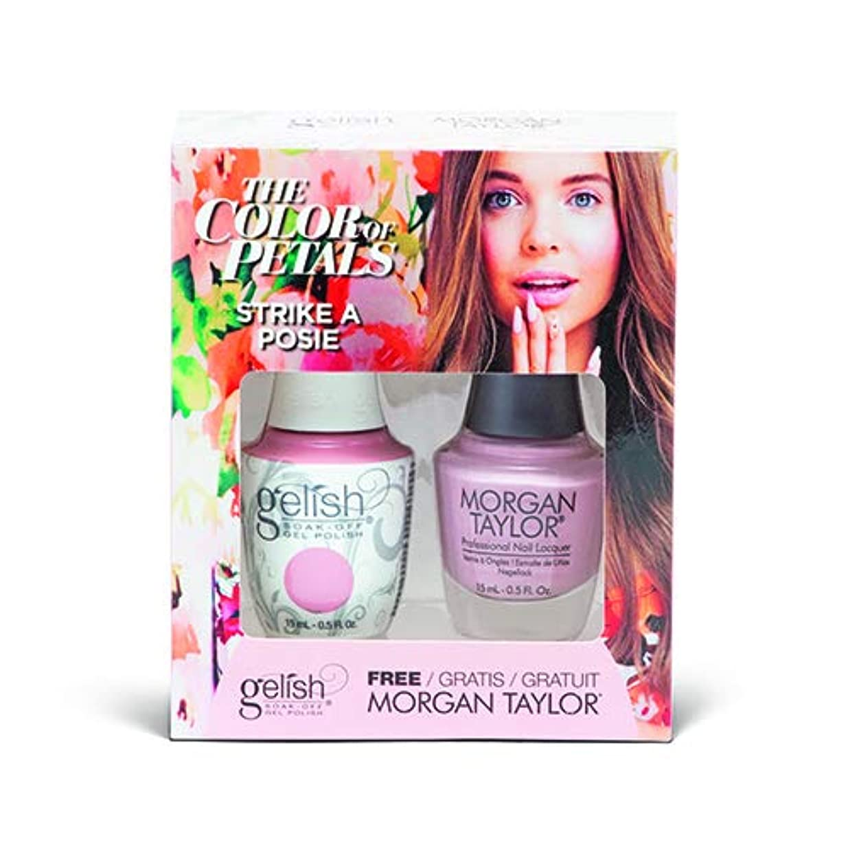 告発者東下品Harmony Gelish - Two Of A Kind - The Color Of Petals - Strike A Posie - 15 mL / 0.5 Oz