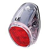LE ソーラー充電 LED自動点滅テールライト セーフティライト 防水 自転車 リフレクター リア