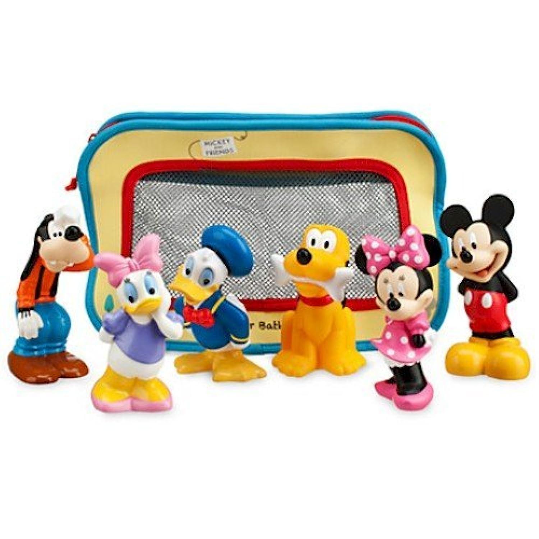 Disney ディズニー Mickey Mouse and Friends Bath Toys 赤ちゃん ベイビー キッズ 子供 お風呂 バス おもちゃ ミッキーマウス ミニーマウス プルート グーフィー ドナルド デイジー 6点セット