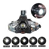 CREE LEDヘッドライト 2000ルーメン ヘッドランプ cree XM-L2 ヘッドライト スポットライト 5点灯モード 防水性能 登山/キャンプ/サイクリング/ハイキングなどのアウトドア活動に適用