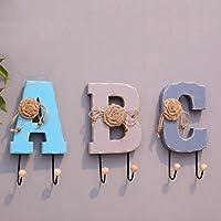 HAIYING コートラックアメリカの創造性は、服を引っ掛ける性格の壁ハンガー壁花家庭の木の装飾を掛けるホームレター(セット) ( 色 : C )