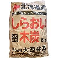 しらおい木炭6kg×4個セット(バラ)