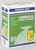 ビジネスバッグCommercial Large Trash Can Liners 50Gal。0.55Milクリア80バッグ
