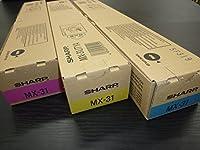 シャープ トナーカートリッジ MX-31JTCA/MA/YA カラー3色セット 純正品