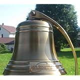 """5"""" Antique Ship?s Bell Maritime Duty Watch/Indoor/Outdoor/Last Orders/Pub/Door/School/Dinner/Reception Wall Mountable Brass B"""
