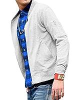 ルービック(RUBIK) MA-1 パーカー メンズ トレーナー ジャケット スウェット 薄手 長袖 ジップアップ ブランド 秋 冬