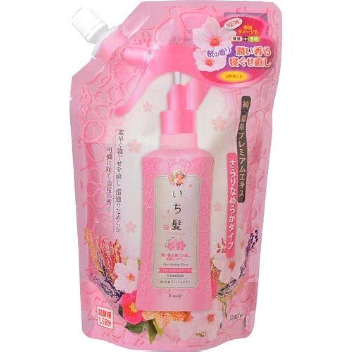 麦芽誇りエミュレーションいち髪 潤い香る寝ぐせ直し和草シャワー さらりなめらかタイプ 詰替用 375mL