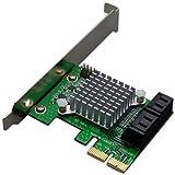 ProjectM PCI-Ex x2 Gen2接続4ポートSATAIII 6Gbps増設カード PCIX2-4PSATA3