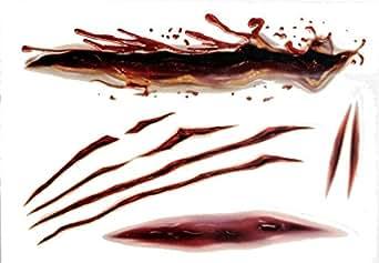 特殊メイク用タトゥーシール #4 切り傷のタトゥーシール