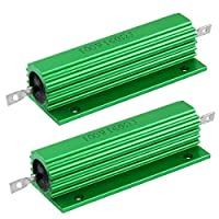 DealMux 100W 160オームグリーンアルミハウジング巻線型抵抗器2個