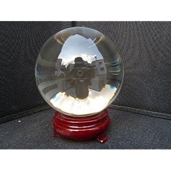 無色透明10.5cm水晶球(木製台・鑑定書付)