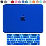 MS factory MacBook Pro 13 Late 2016 ケース + 日本語 キーボード カバー ハードケース Touch Bar搭載/A1706 対応 マックブック プロ 13.3 インチ 全13色カバー RMC series マット加工 ブルー 青 RMC-SETP13T-MBL