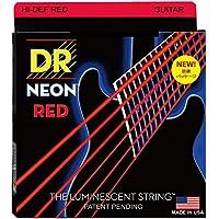 DR エレキ弦 NEON ニッケルメッキ レッド カラー コーテッド .010-.046 NRE-10