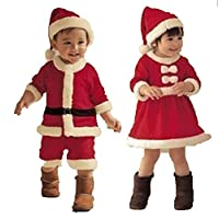 【Cos RuRu】 キッズサンタ 子供サンタ ベビーサンタ サンタ仮装 サンタコスプレ コスチューム衣装 サイズ豊富 超人気子供サンタ衣装 CR1195 (110cm, 女の子)