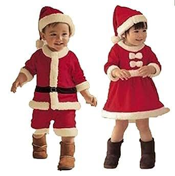 【Cos RuRu】 キッズサンタ 子供サンタ ベビーサンタ サンタ仮装 サンタコスプレ コスチューム衣装 サイズ豊富 超人気子供サンタ衣装 CR1195 (130cm, 男の子)