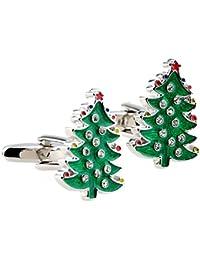 グリーンクリスマスツリーShaped Cufflinks