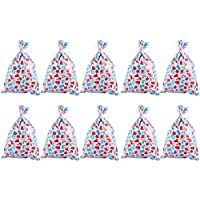 YARNOW 20 Pcs Christmas Treat Bags Party Favor Bags Drawstring Candy Bags Happy Halloween Goodies Bags Food Storage Bags for  Party