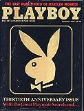 Playboy 1月1984?Thirtieth 30th Anniversary Issue???最後のヌード写真のマリリン・モンロー( Playboy )